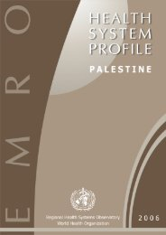 Palestine : Complete Profile - What is GIS - World Health Organization