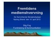 Se siderne fra Stig Fogs indlæg her. - Samvirkende Menighedsplejer