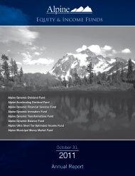 Annual Report - Alpine Funds