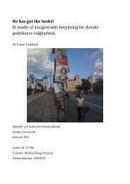 Et studie af ansigtstræks betydning for danske ... - Jyllands-Posten