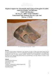 Bygherrerapport for arkæologisk udgravning af ... - Vejle Museum