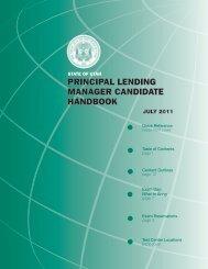 principal lending manager candidate handbook - Pearson VUE