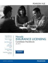 Nevada Insurance Candidate Handbook - Pearson VUE