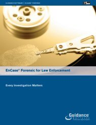 EnCase® Forensic for Law Enforcement