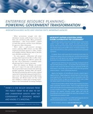 enterprise resource planning: powering government transformation