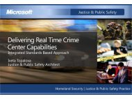 Delivering Real Time Crime Center Capabilities