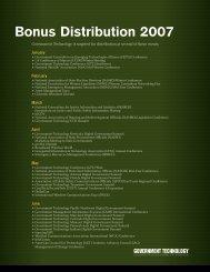 Bonus Distribution 2007