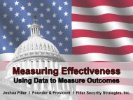 Measuring the Effectiveness of Homeland Security Investments