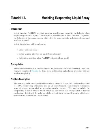 Tutorial 15. Modeling Evaporating Liquid Spray
