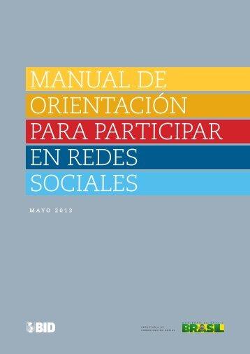 manual de orientación para participar en redes sociales