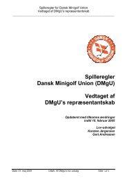 Spilleregler for DMgU - revideret marts 2005 - Dansk Minigolf Union