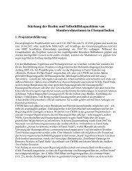 Stärkung der Rechte und Selbsthilfekapazitäten von ...