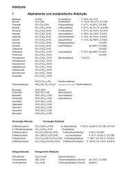 Aldehyde 1 Aliphatische und araliphatische Aldehyde - Aklimex.de