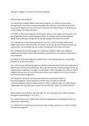 Læs uddrag vedrørende Rådet af vedtægter for Institut for ...
