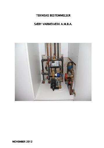 klik her for at åbne de tekniske bestemmelser - Sæby Varmeværk ...