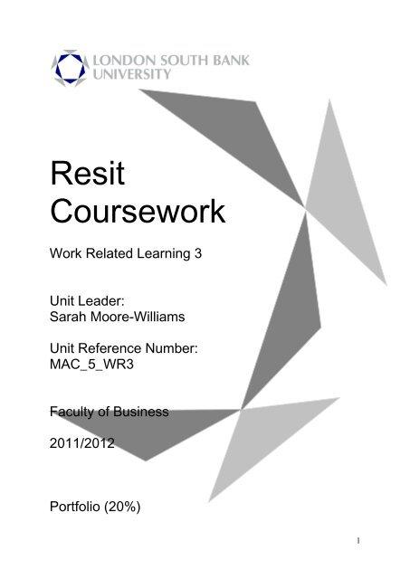lsbu resit coursework