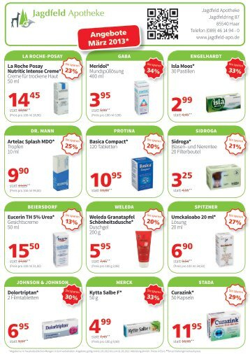 Angebote März 2013* - Jagdfeld-Apotheke