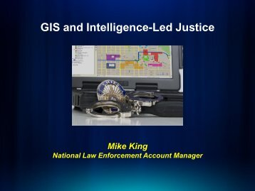GIS and Intelligence-Led Justice