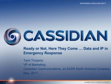 Data and IP in Emergency Response