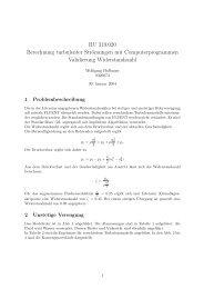 RU 319.020 Berechnung turbulenter Strömungen mit ...