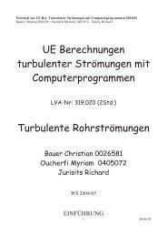 UE Berechnungen turbulenter Strömungen mit ...