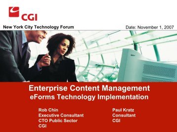 Enterprise Content Management eForms Technology Implementation