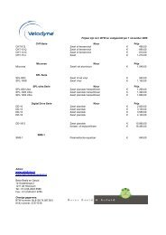 Prijzen zijn incl. BTW en vastgesteld per 1 november 2009 CHT ...