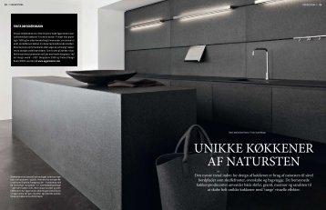 Unikke køkkener af natUrsten - scale design