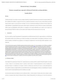 Reforma del Estado y Gobernabilidad: Elementos conceptuales ...