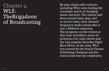 Chapter 4 WLS: TheBrigadoon of Broadcasting