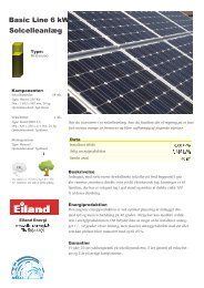 Basic Line 6 kW Solcelleanlæg - Eiland Energi