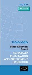 Colorado Electrician Handbook - Pearson VUE