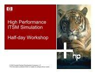 High Performance ITSM Simulation Half-day Workshop