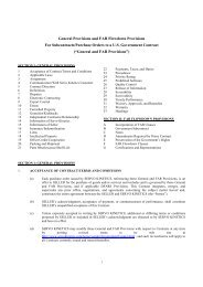 General Provisions and FAR Flowdown Provisions For Subcontracts ...