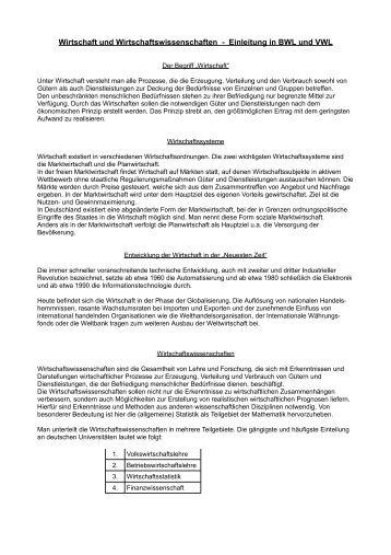 Grundlagen der Wirtschaft - Aklimex.de