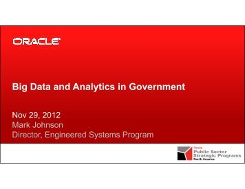 Big Data and Analytics in Government