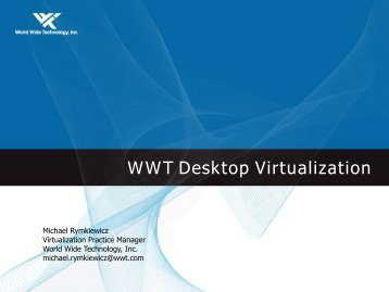 WWT Desktop Virtualization Workshop