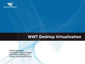 WWT Desktop Virtualization Workshop