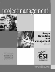 Scope Definition and Management