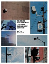 CHICAGO'S VIDEO SURVEILLANCE CAMERAS: A PERVASIVE ...