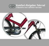 Komfort-Ratgeber Fahrrad - Evobike
