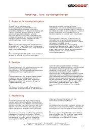 Forretningsbetingelser - Globase