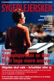 Sygeplejersken 2010 Nr. 11 - Dansk Sygeplejeråd