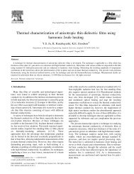 Thermal characterization of anisotropic thin dielectric films using ...