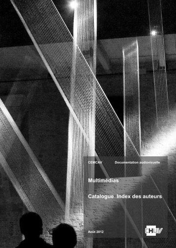Catalogue CEMCAV - CHUV