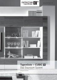 CUBIC 1 Typenliste