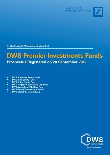 DWS Premier Investments Funds - Under Construction Home