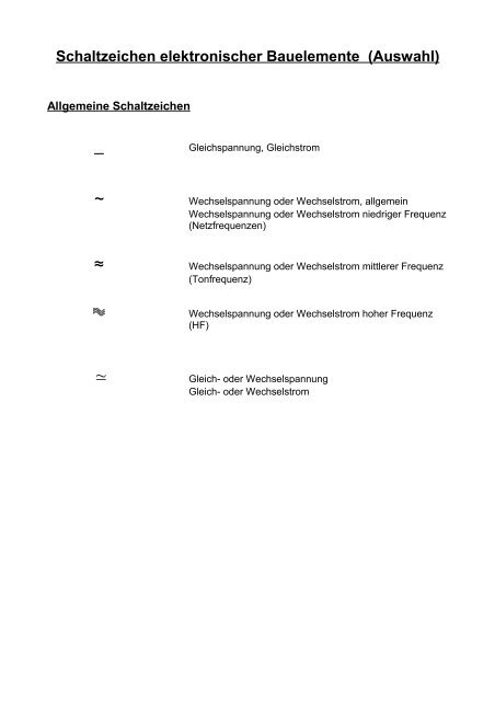 Schaltzeichen - Aklimex.de