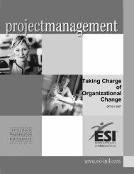Taking Charge of Organizational Change