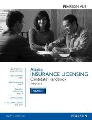 Alaska Insurance Candidate Handbook - Pearson VUE